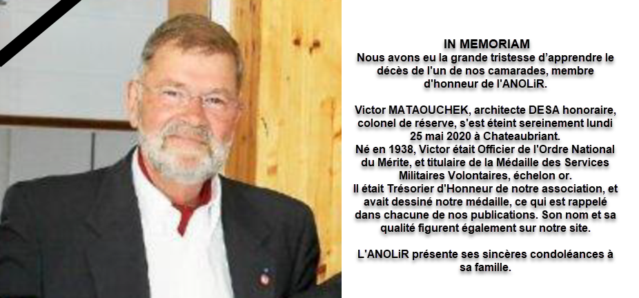 IN MEMORIAM COL VICTOR MATAOUCHEK